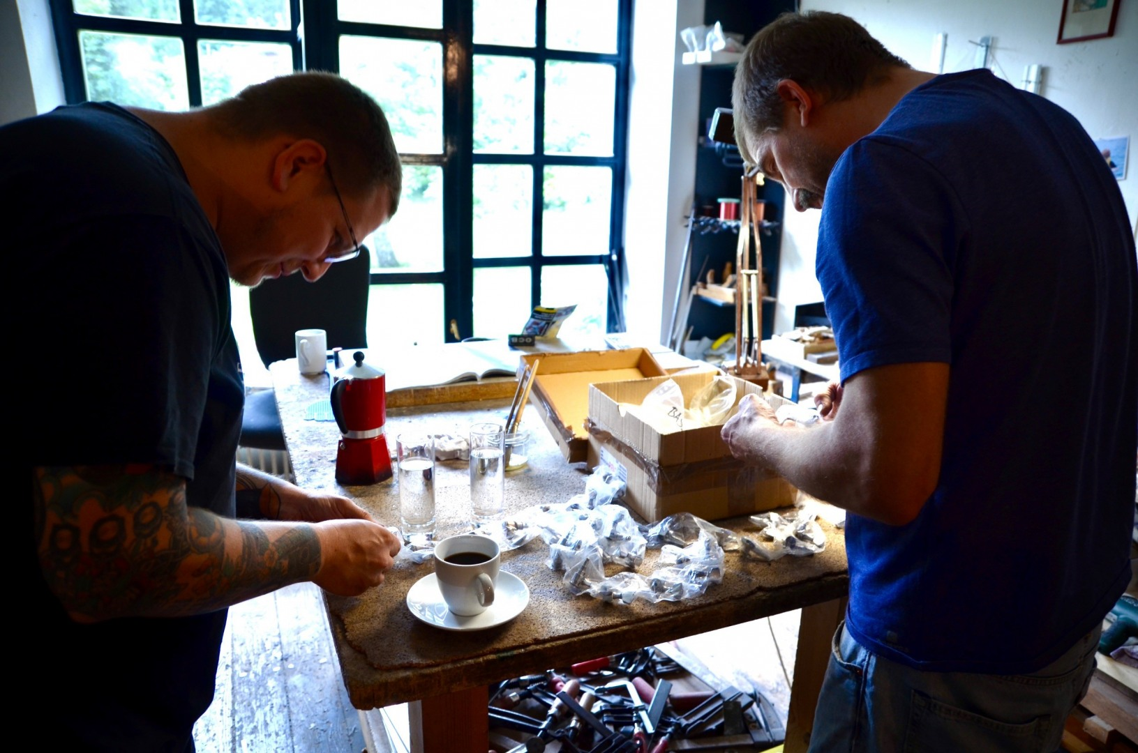 Stefan Huth & Markus Kirchmayr final inspection of new material